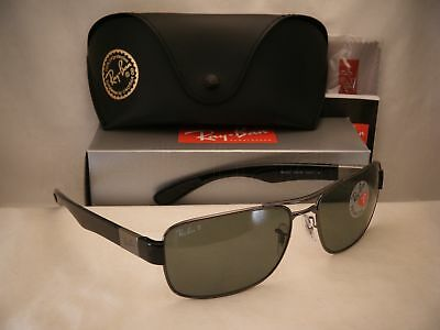 1d41aa84a9 Ray Ban 3522 Gunmetal w Grey Polar Lens NEW sunglasses (RB3522 004 9A 64mm