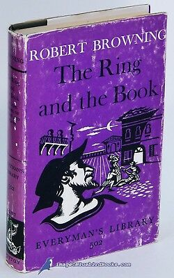The Ring and the Book: Vol. 3, Rob't BROWNING VG+ Everyman's Library HC/DJ 80279