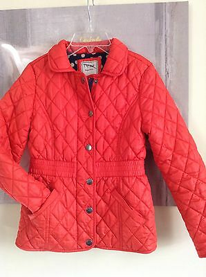 Next Girls Red Quilted Jacket Size 9-10yrs NEW NO TAGS RRP £40