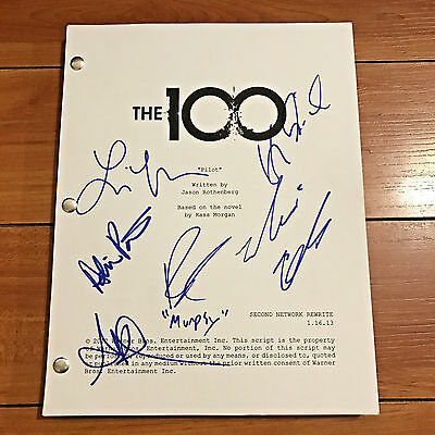 The 100 Hundred Signed Full Pilot Script By 5 Cast Members - Marie Avgeropoulos