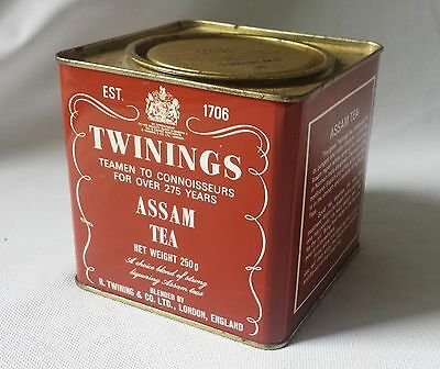 Collectable Twinings Assam 250G Empty Tea Tin - Excellent Kitchen Storage