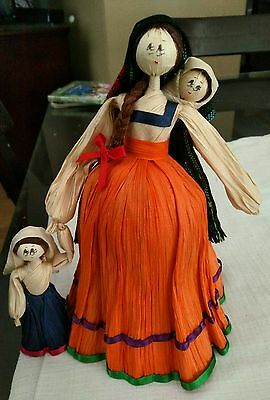 "Corn Husk Doll ""baby wearing with child"""