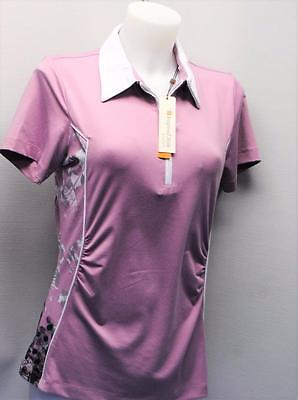 New Ladies Spanner Inspired Style Golf short sleeve polo shirt top SMALL