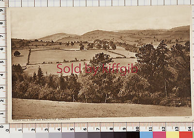 Welsh Hills from Old Racecourse Oswestry vintage postcard