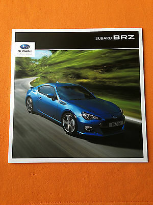 Subaru BRZ coupe dealer marketing paper brochure 2015 print MINT BR Z BR-Z