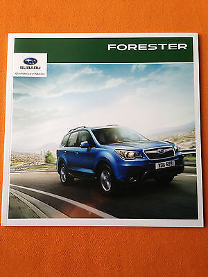 Subaru Forester 2.0 XT XC XE dealer marketing paper brochure 2015 print MINT