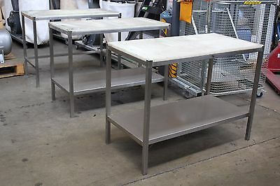 Used Commercial Quality Stainless Steel Chopping Board Bench
