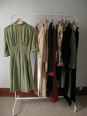 Lot of 1950s Women's Wool Dresses - Vintage Clothing Lot