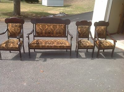 Vintage (Early 1900'S) 4 Piece Settee Set