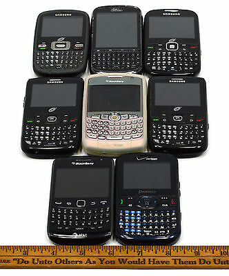 MOBILE PHONE Mixed Lot 8 BUTTON-KEYBOARD CELL PHONES Samsung BLACKBERRY CURVE ++