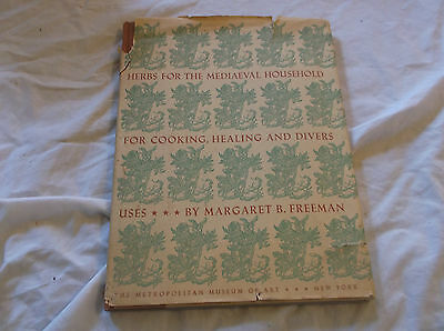 Herbs for the Mediaeval Household Medieval Book VINTAGE RARE Illustrated