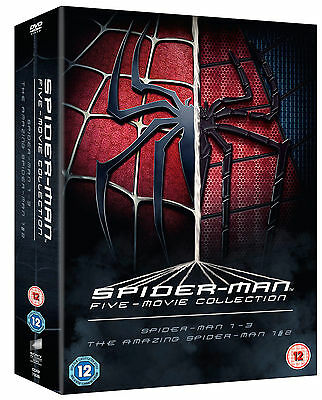 The Spider-Man Complete Five Film Collection DVD Region 2 BRAND NEW AND SEALED
