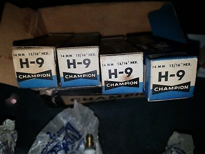 Champion Spark Plug  H-9  nos set of 9 Brand new