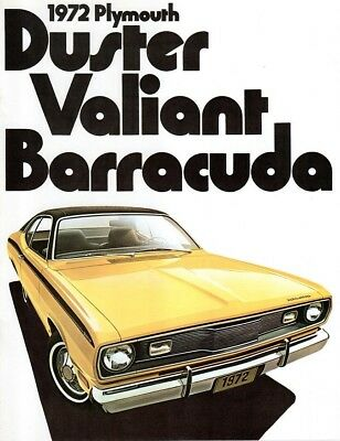 1972 Plymouth BARRACUDA Valiant Duster Sales Brochure - MINT New Old Stock