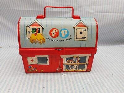 Vintage Fisher Price min lunch box #549 1962