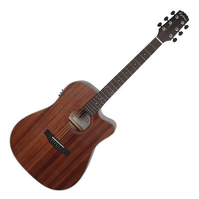 Martinez Natural Series Acoustic-Electric Dreadnought Guitar Mahogany