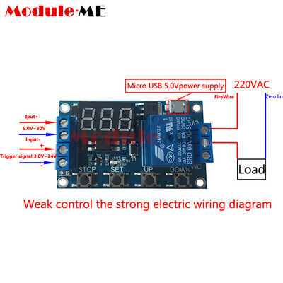 Micro USB 5V LED Automation Delay Timer Control Switch Relay Module Display MO