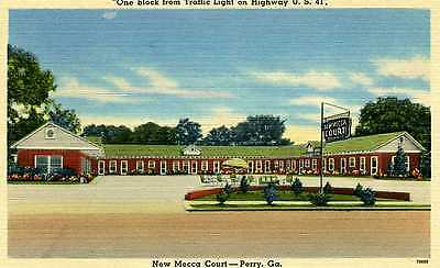 Linen PC New Mecca Court, Early Motor Court, Perry, Ga.