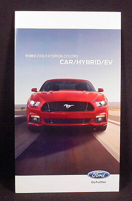 2016 Ford Car  Paint Color Chip Brochure - Mustang / Focus / Taurus /  Etc