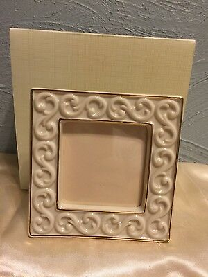 """Lenox Carved Scroll 4.75"""" square  Picture Frame"""