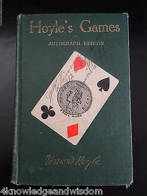 Hoyle's Games Autograph Edition 1926 Americana Hardcover from a Lodge Club Room