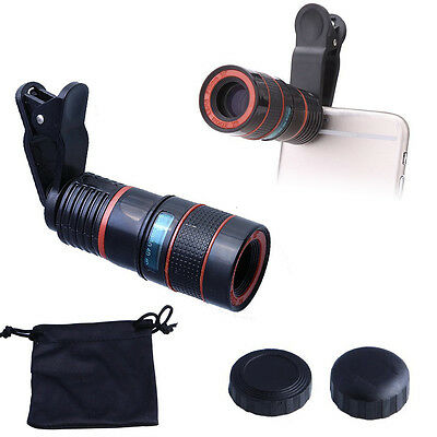 8x Zoom Camera Telescope Lens Clip-on Photography for iPhone 6 7 Plus Smartphone