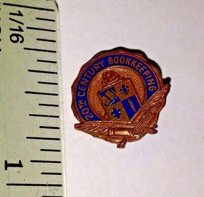 20th Century Book Keeping & Accounting Vintage Service Pin Crest Collectors