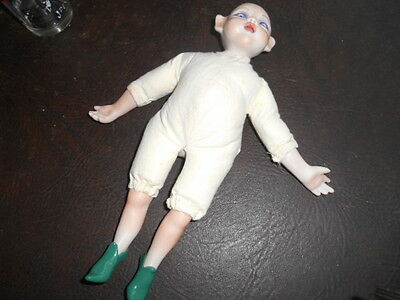 Porcelain Pixie Elf Fairy Doll - Glass Eyes – 12 inches TALL