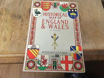 Historical Map of England and Wales LG. Bullock, John Bartholomew & Son Ltd 1971