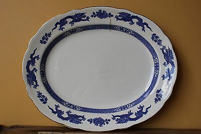 Vintage Large  Royal Couldon  Dragon Platter, Oval serving Plate. #3  38cm.