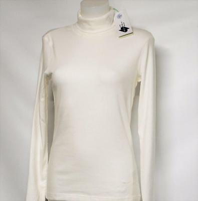 New Ladies MEDIUM  Women Daily Sports 60 long sleeve golf turtleneck