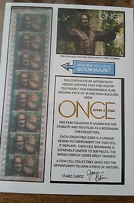 Once Upon a Time Rumplestiltskin  Film Cell Bookmark