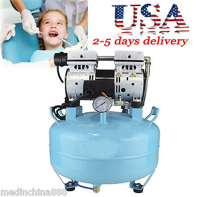 Medical Noiseless Oil Free Oilless Air Compressor 30L 550W for  Dental Chair USA