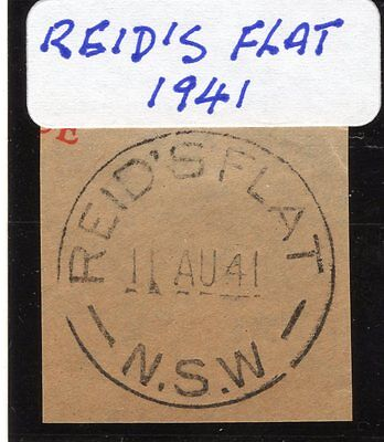 New South Wales Postmark 1941 Reid's Flat complete on cutout