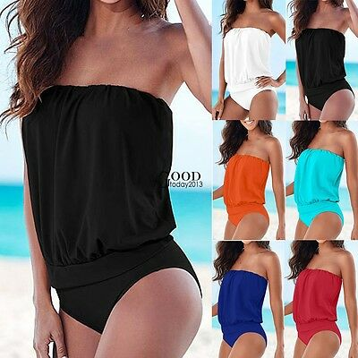 Fashion Women Bikini Swimsuit Monokini One Piece Overall Swimwear Bathing Suit