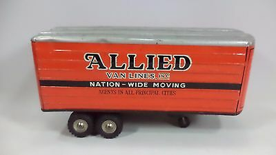 Rare Linemar Marx Allied Van Lines Tractor Trailer Semi Parts TIN LITHO TRUCK