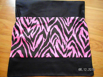 pink zebra chair bag for school first name free, free postage