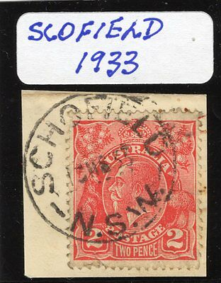 New South Wales Postmark 1933 Scofield complete on George V