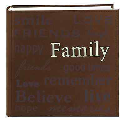 Family Brown Photo Album Gift Wedding Party Memories Holds 200 Pictures 4''x6''