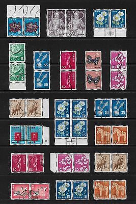 JAPAN - mixed collection, joined pairs & blocks No.25