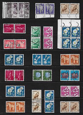 JAPAN - mixed collection, joined pairs & blocks No.27