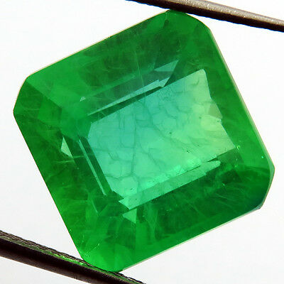 EMERALD CHATHUM 9.50 ct MARVELOUS COLOMBIAN GREEN LOOSE SQUARE