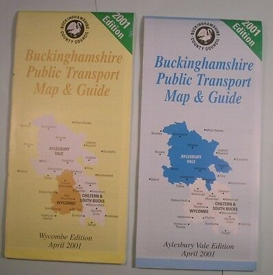 Buckinghamshire Public Transport Map & Guides Aylesbury & Wycombe Areas
