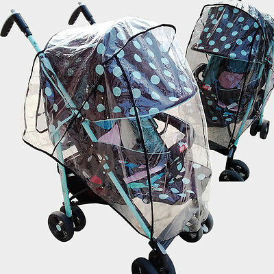 Universal Baby Buggy Rain Cover Pushchair Dustproof Transparent Case Stroller
