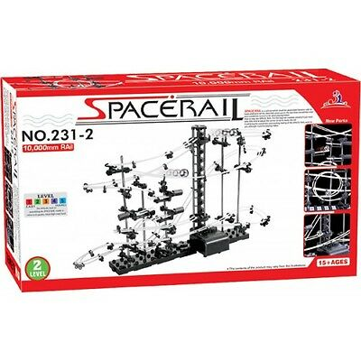 SpaceRail 231-2 Level 2 Steel Marble Run Roller Coaster kit with 10,000mm rail