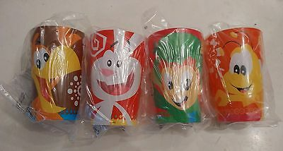 General Mills 1 Set Trix Lucky Charms Coco Puffs Cheerios Promotion Plastic Cups