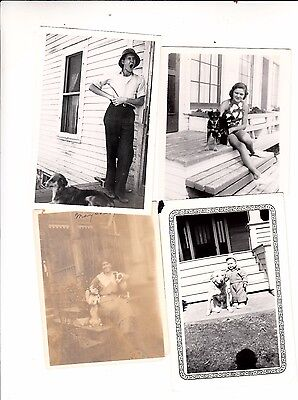 6 DARLING Vintage DOG PHOTOS/PUPPY PUPPIES MIXED BREEDS/ANIMALS PETS MUST SEE