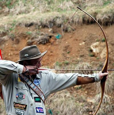 Archery Traditional Recurve Bow Handmade Hunting Mongolian  One Piece D Longbow
