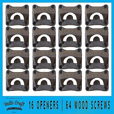16 Cast Iron Wall Mounted Beer Bottle Openers | OPEN HERE | Wholesale Bulk Lot