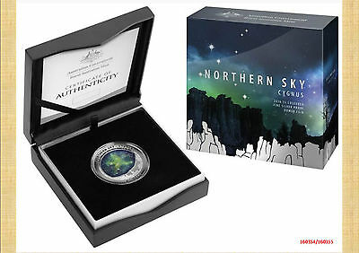 2016 $5 Silver Proof Colour Printed Domed Coin Northern Sky – Cygnus